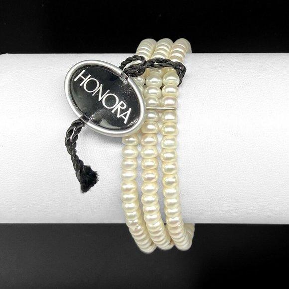 NEW Honora Freshwater Pearl Stretch Bracelet